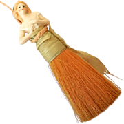 Lovely Vintage Half Doll Vanity Clothes Brush Whisk Broom