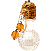 Vintage Miniature Czech Perfume Bottle Jewel Dangles