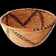 SOLD LARGE Hand Made American Indian Bowl Shape Basket