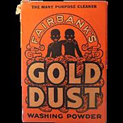 Large Size 1930s Gold Dust Washing Powder Black Americana
