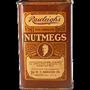1920s-30s Rawleigh's Nutmegs Spice Tin