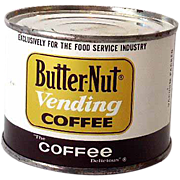 Unopened Sample Size Butternut Coffee Tin *MINTY*