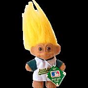 1991 Russ Troll Doll Oakland Athletics