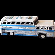 Vintage Tin Litho Friction Powered Greyhound Bus ScenicCruiser