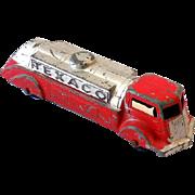 Vintage 1940s Tootsietoy Tanker Truck 2 Tone Texaco