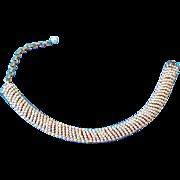 Unusual Fancy Vintage Faux Pearl Choker Necklace
