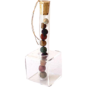 (10) OLD Clay Marbles in a Nice Glass Tube Display