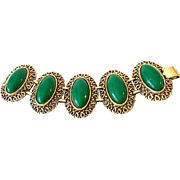 Outrageous Large 1950s Bracelet Costume Jewelry