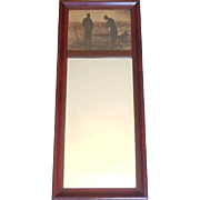 SOLD Small Victorian Hall Mirror With Photograph Top