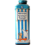 1940s Mennen Baby Talcum Powder Tin Great Graphics
