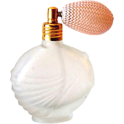 Satin Glass Perfume Bottle With Atomizer