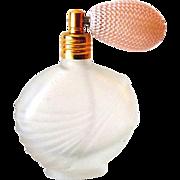 Satin Glass Perfume Bottle With Atomizer