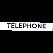 Large Vintage Glass Telephone Both Sign