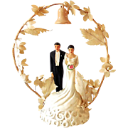 1948 Wedding Cake Top Bride and Groom *NICE*