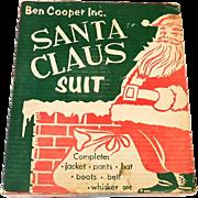 1950s Santa Claus Suit Costume in Original Box