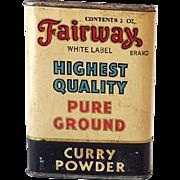Vintage Spice Tin Fairway Curry Powder