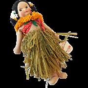 1940s Georgene Hawaiian Hula Girl Doll Near Mint