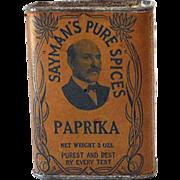 Vintage Sayman's Paprika Spice Tin Great Label