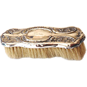 Sterling Silver Victorian Clothes Brush
