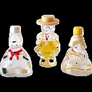 "(3) Figural Perfume Bottles For Children Marked ""Holland"""