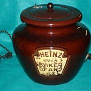 SALE 1950's Heavy Pottery Heinz Advertising Bean Pot