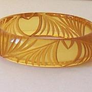 SALE Deeply Carved Bakelite Applejuice Bracelet Original 1930's