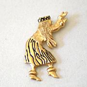 SALE 14 karat Gold Hawaiian Hula Girl Pendant