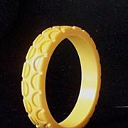 SALE Deeply Carved Chunky Original 1930's Bakelite Bracelet
