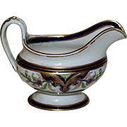 "Antique English Creamer, Cobalt and Gold, ""Canton"" Pattern"