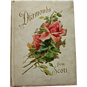 SOLD Diamonds from Scott by Sir Walter Scott - Victorian Book with Lovely Color Prints