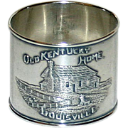 Antique Sterling Napkin Ring Old Kentucky Home - Louisville--by Paye and Baker