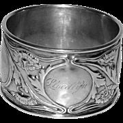 Antique Gorham Sterling Art Nouveau Napkin Ring