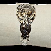 SALE Antique Unger American Sterling Art Nouveau Figural Napkin Ring