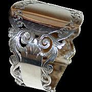 Antique English Sterling Napkin Ring - Cooper Bros., 1913, hallmarked