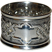 SALE 1895 Sterling English Hallmarked Repousse Napkin Ring