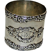 SALE Antique Sterling Silver American Napkin Ring, Classical Design
