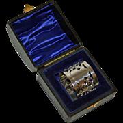 SALE Antique English Sterling Napkin Ring in Original Box, 1900, Thistle Design