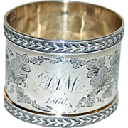 Antique American Sterling Napkin Ring Dated 1860