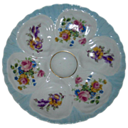 SALE Limoges Oyster Plate--French Floral