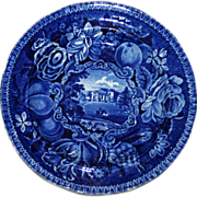 SALE c. 1830 Historical Blue English Transferware Plate - Pains Hill Surrey by Hall
