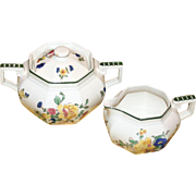 Royal Doulton Sugar and Creamer in Old Trentham Sprays