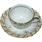 "Royal Worcester ""Surrey"" Cup and Saucer Set, Hand Painted and Enameled, 7 Available"