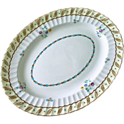 "SALE English Royal Worcester Platter in ""Surrey"" Pattern, Hand Painted and Enameled"