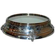 SALE Grand Mirrored Silverplate Plateau