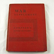 REDUCED War Supplement Compton's Pictured Encyclopedia