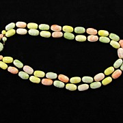 REDUCED Vintage Austria Two Strands Pastel Beads Necklace
