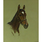 REDUCED Alice Des Clayes (1891-1971) Canadian Artist Horse Pastel