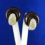 REDUCED Vintage Rhinestone and Celluloid Earrings