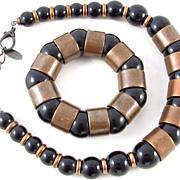 REDUCED Gorgeous Italian Beatrice Ivrea Plastic Necklace Bracelet Set