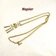 REDUCED Vintage Modernist Napier Necklace